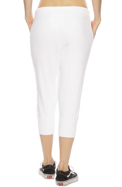Tee Lab by Frank & Eileen Super Crop Sweatpants in Whiteout
