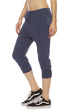 Tee Lab by Frank & Eileen Super Crop Sweatpants in Navy