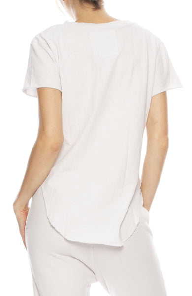 Tee Lab by Frank & Eileen Round Hem Vintage Tee in Dirty White