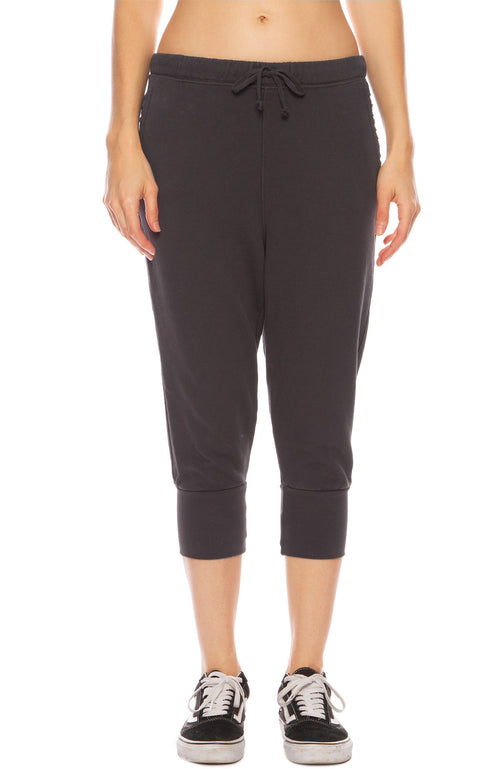 Tee Lab by Frank & Eileen Super Crop Sweatpants in Carbon
