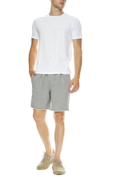 Hiro Clark Classic Club Shorts in Grey with Original Classic Tee in White