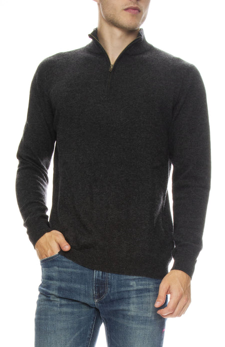 Exclusive Cashmere Sweater with Zip Mock Neck