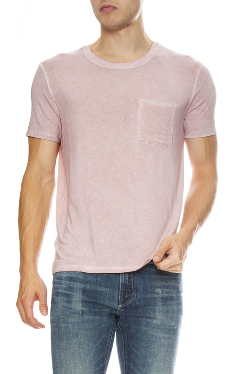 ATM Mens Sun Bleached Jersey Tee in Sunset