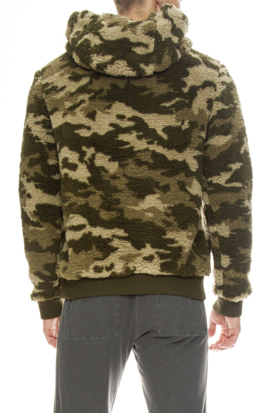 ATM Mens Camo Sherpa Pullover Hoodie