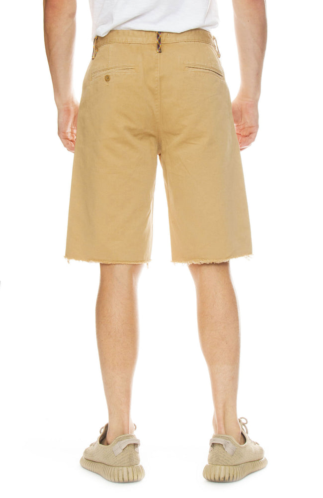 Frame Mens Raw Hem Khaki Shorts