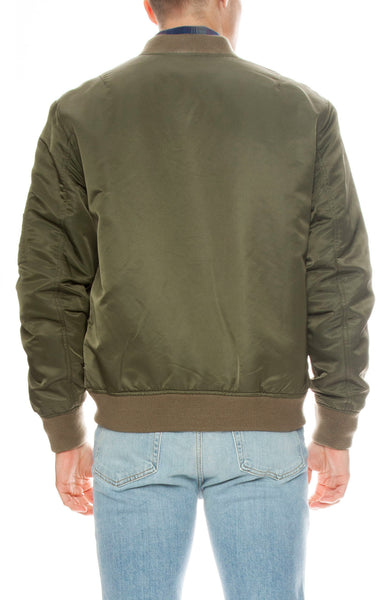 Frame Mens Nylon Bomber Jacket in Caper