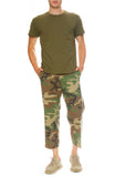 R13 Mens Camo Cropped Slouch Pant with Surplus Destroy Tee