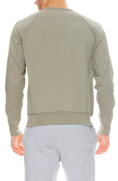 Save Khaki Supima Fleece Sweatshirt in Sprout