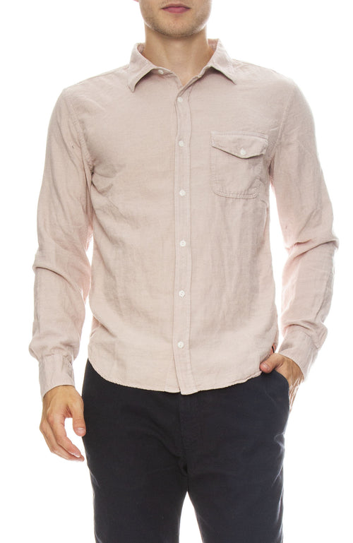 Save Khaki Oatmeal Flannel Workshirt in Tea