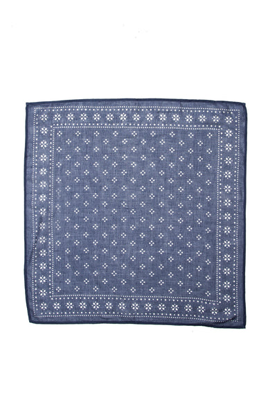 Chan Luu Dotted Neckerchief in Denim