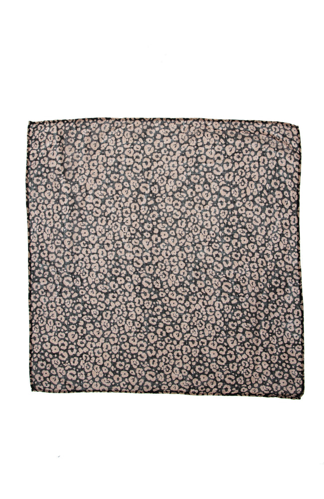 Chan Luu Leopard Print Neckerchief in Black / Chocolate