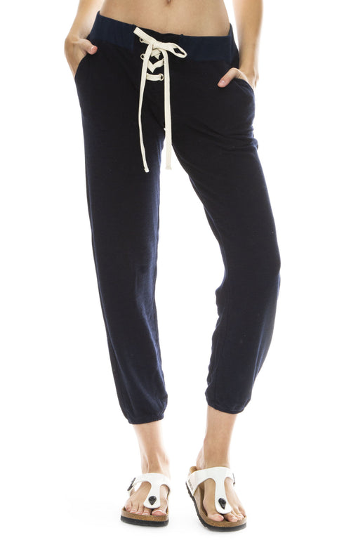 Monrow Super Soft Lace Up Sweatpants in Inca