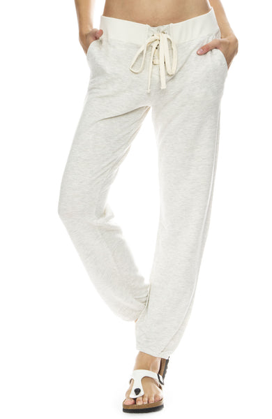 Monrow Super Soft Lace Up Sweatpants in Ash