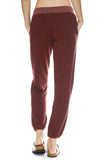 Monrow Super Soft Lace Up Sweatpants in Dusty Maroon