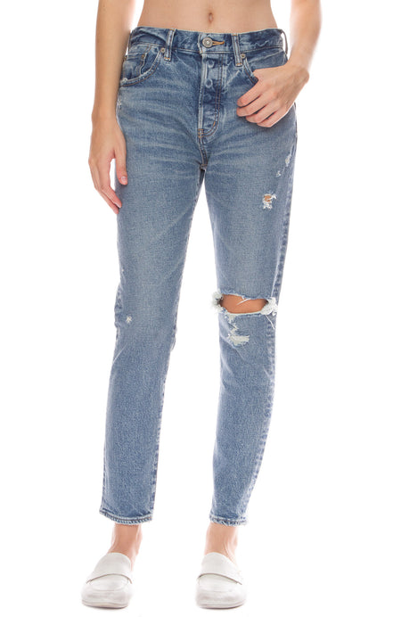 Isabel High-Rise Tapered Skinny Jeans