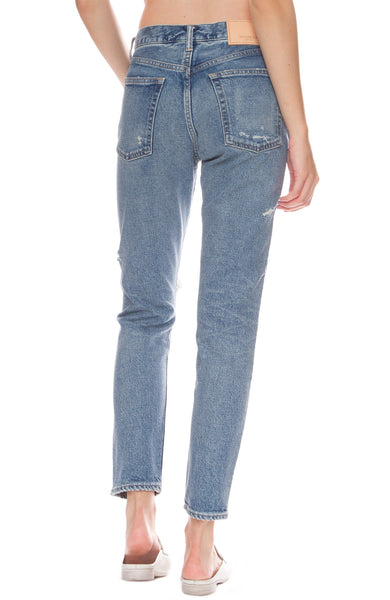 Moussy Vintage Isabel High-Rise Tapered Skinny Jeans in Blue