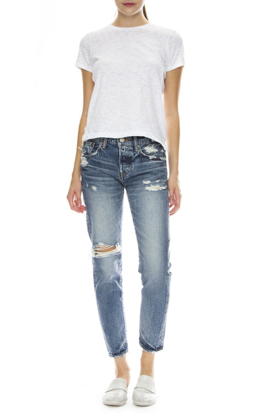 Moussy Vintage MV Ryan Tapered Jean in Dark Blue