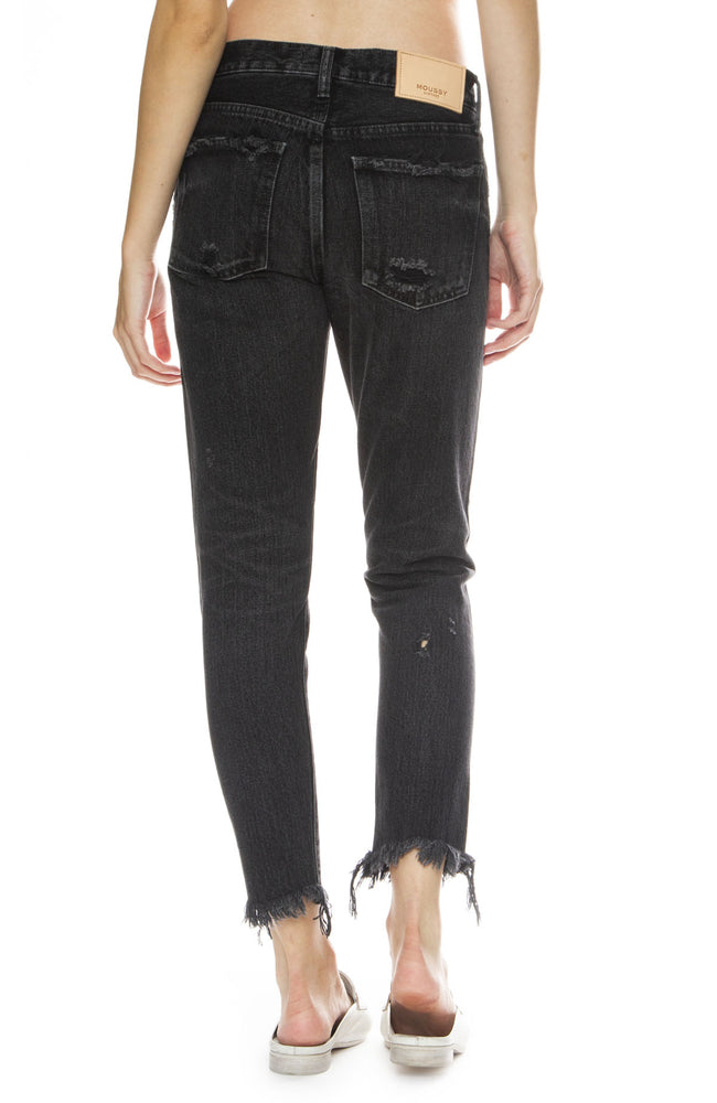 Moussy Vintage MV Kelley Tapered Jean in Black
