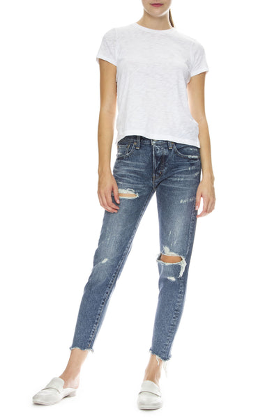 Moussy Vintage MV Ashland Tapered Jean in Blue