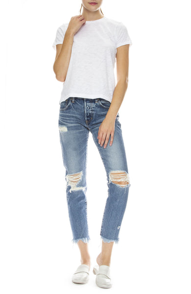 Moussy Vintage MV Frederick Tapered Jean in Light Blue