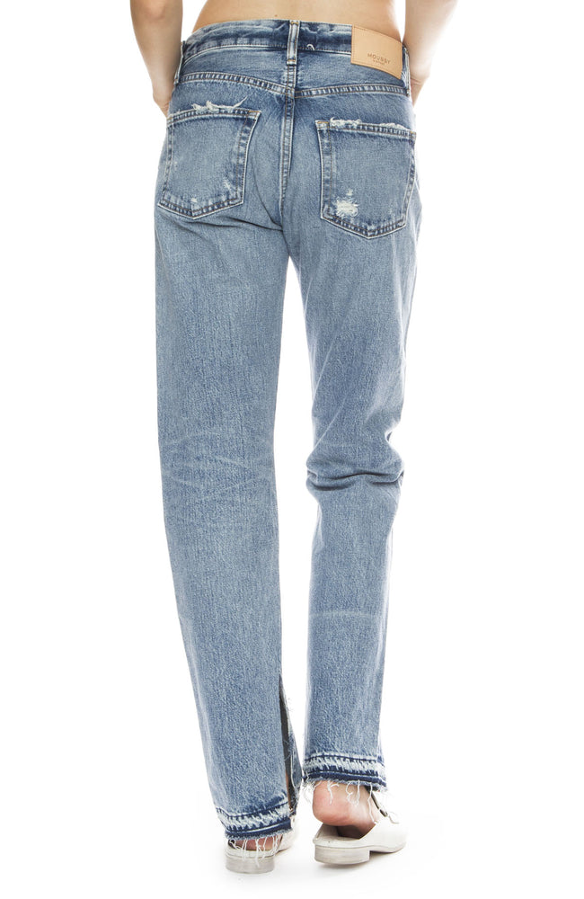 Moussy Vintage MV Mayer Straight Leg Jean in Blue