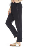 Xirena Jordyn Gauze Pants in Navy with Ivory Stitching