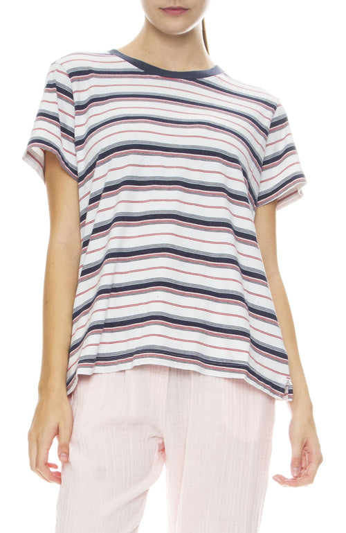 Xirena West Striped Tee in Whitewater