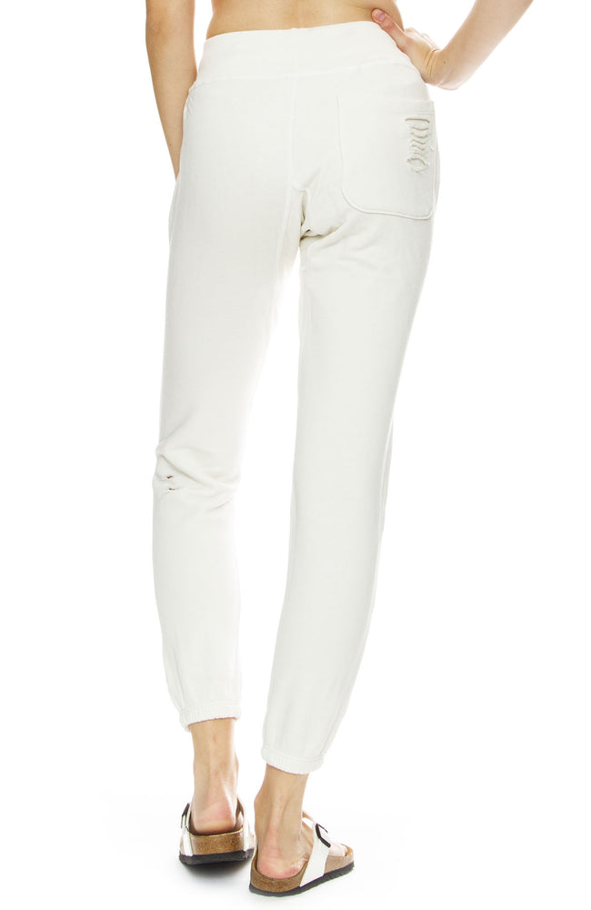 NSF Womens Sayde Destroy Sweatpants in Soft White