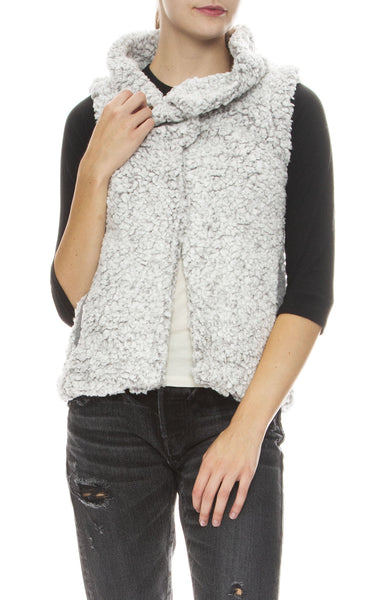 Dylan Funnel Neck Cozy Vest in Heather