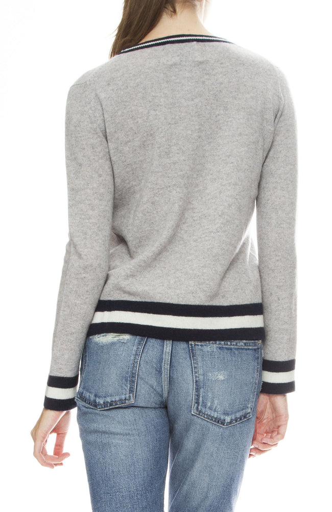 Jumper 1234 Stripe Trim Cashmere Sweater