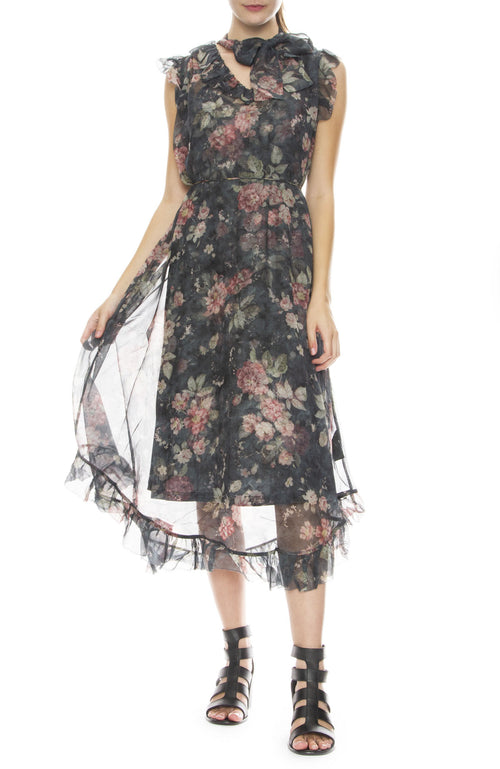 Zimmermann Unbridled Frill Dress in Ash Garden Floral