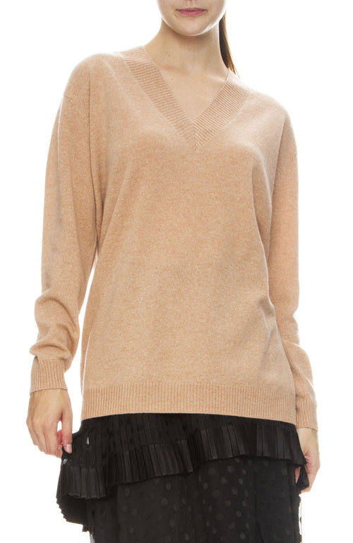 Zimmermann Cashmere V-Neck Sweater in Rose
