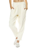Black Crane Carpenter Pants in Cream