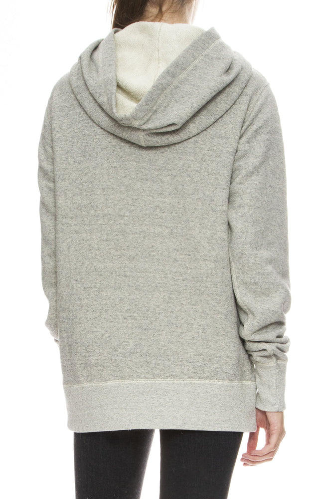 R13 Womens Twisted Oversized Hoodie in Heather Grey