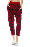 R13 Womens Cashmere Red Leopard Print Pants
