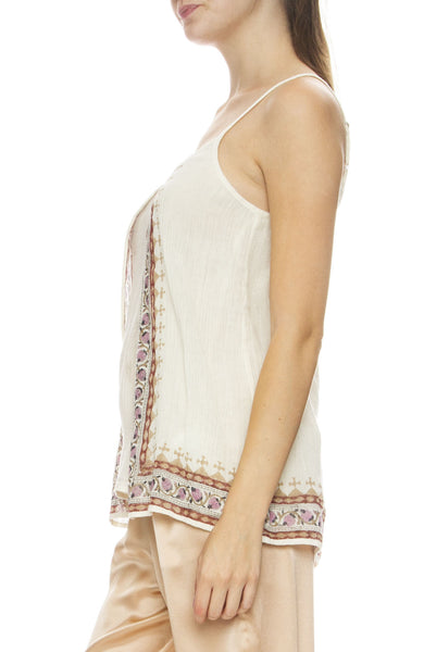 Mes Demoiselles Solid Border Print Camisole