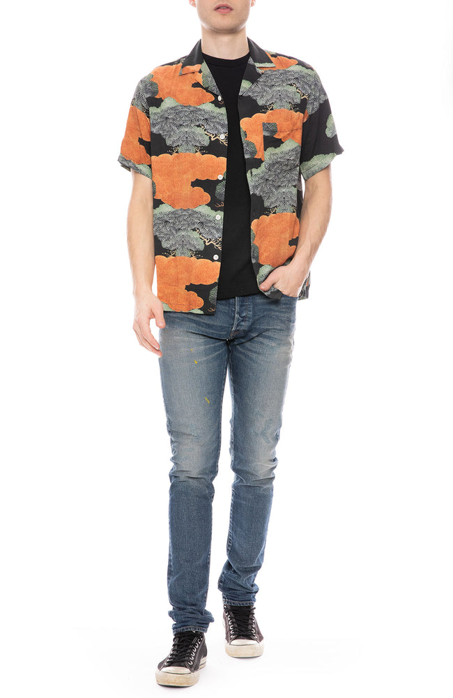 Ryan Printed Camp Collar Shirt