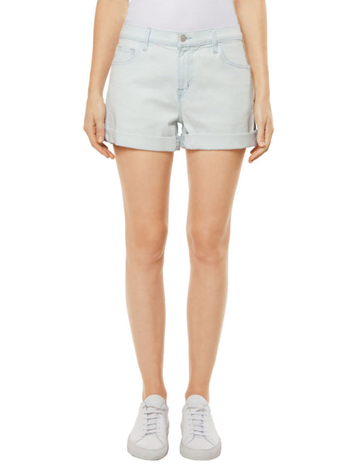 Johnny Mid-Rise Boy Fit Short in Powdered