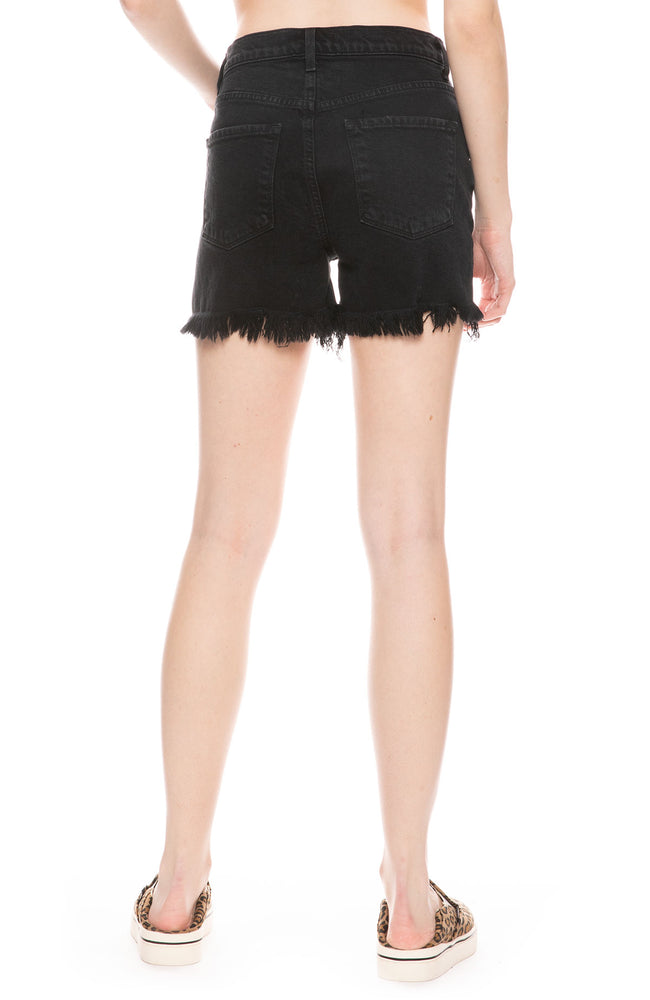 Jules High Rise Short in Undercover Destruct