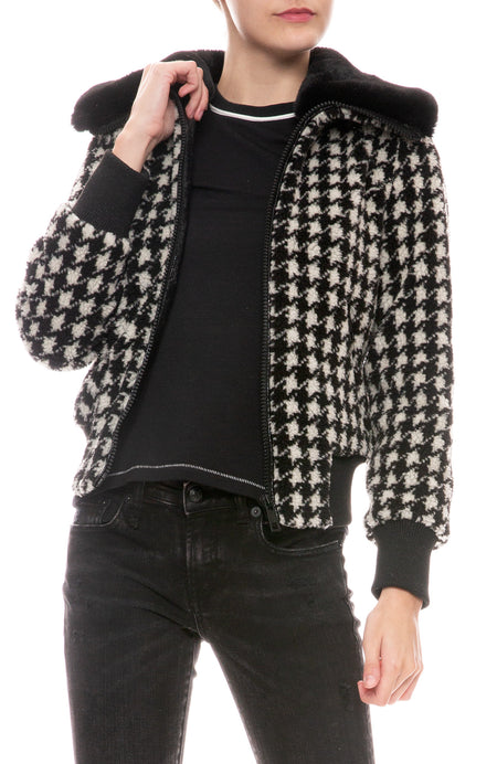 Faux Teddy Bomber Jacket