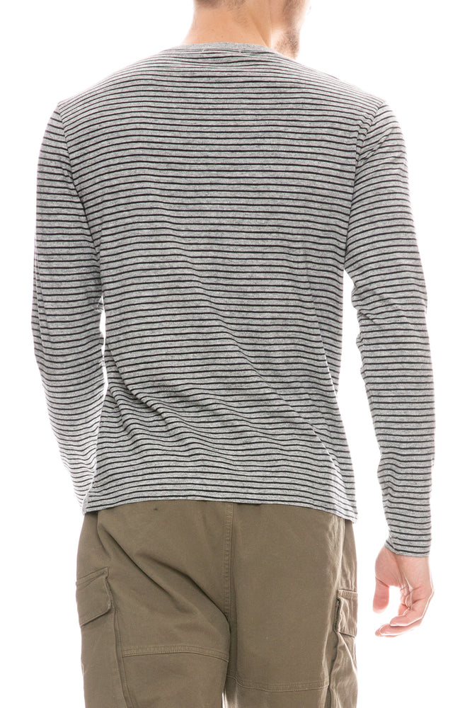 Slub Striped Long Sleeve T-Shirt