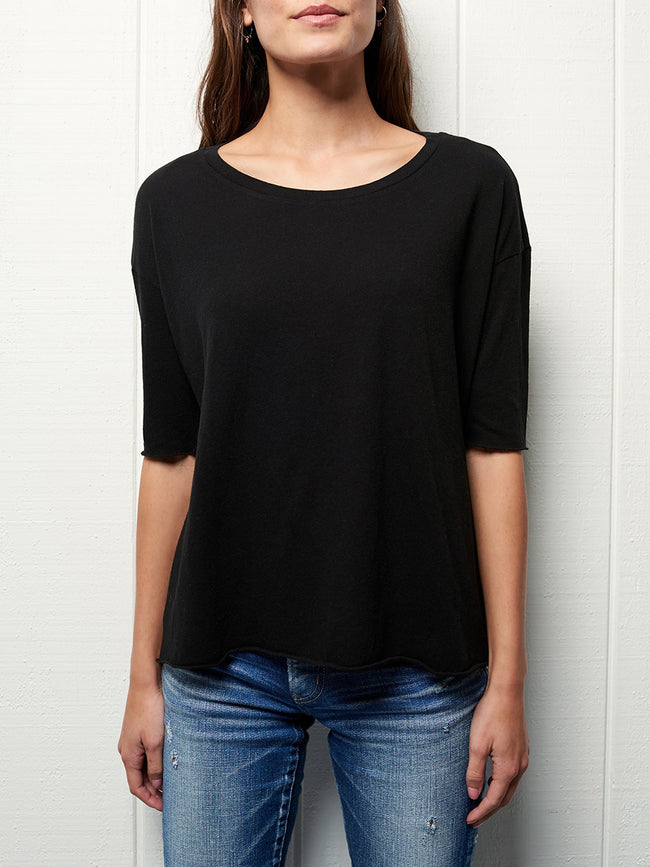 Wide Scoop Neck Tee