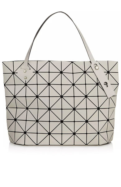 Bao Bao Issey Miyake Rock Frost Shoulder Bag in Light Beige