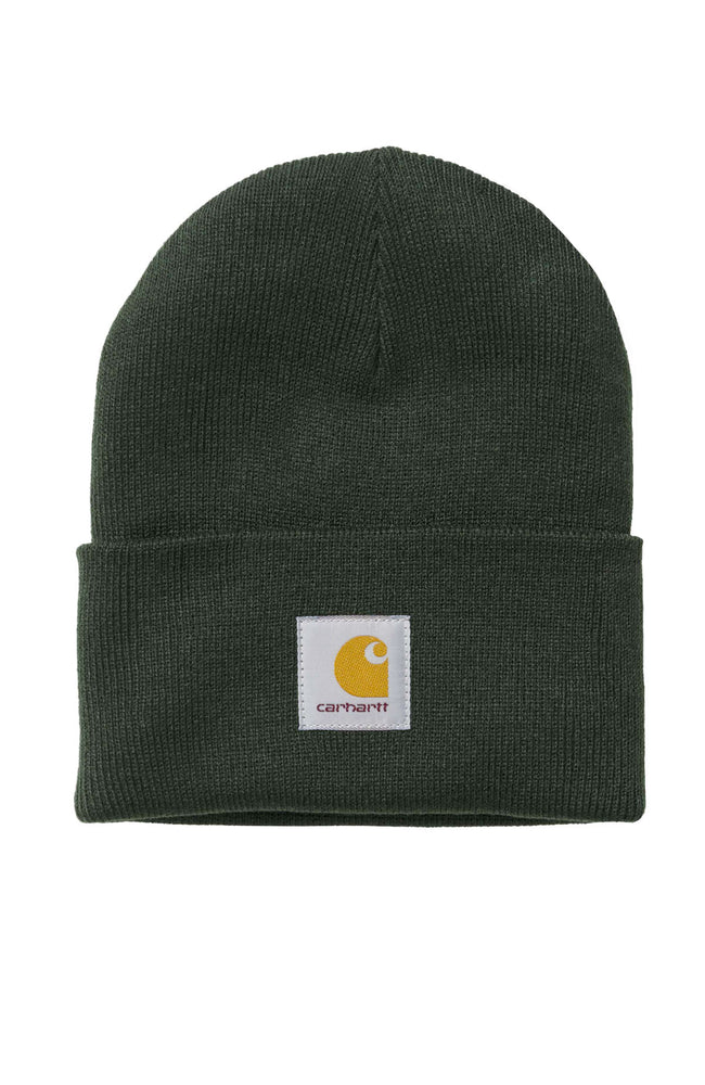Carhartt WIP Mens Acrylic Watch Beanie in Loden Green at Ron Herman
