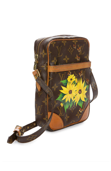 Vintage LV Danube Crossbody Flower and Butterfly Print Bag