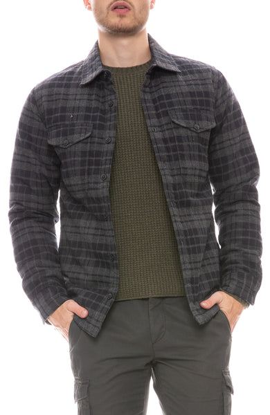 Brushed Flannel Plaid Jacket