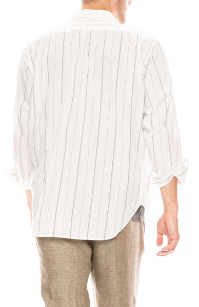 Policy Shirt in Printed Stripe Voile