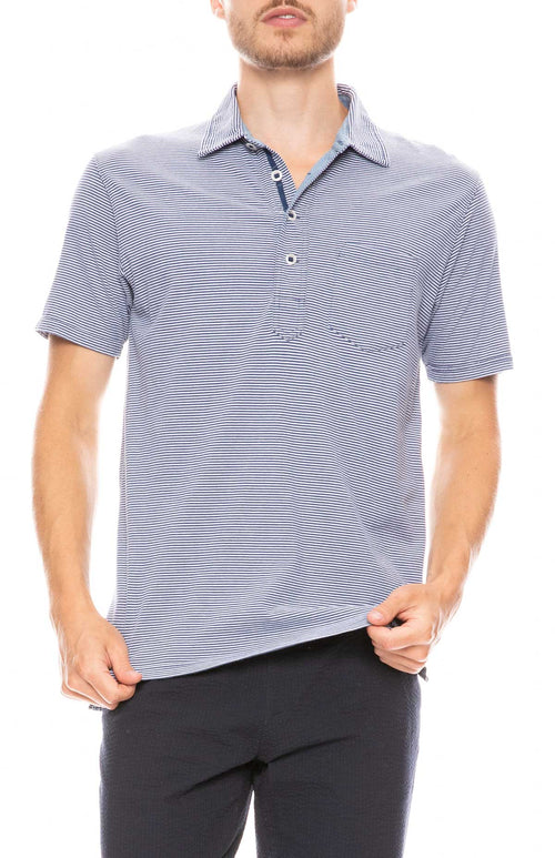 Finespun Striped Polo