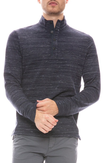 Loop Back Mock Neck Henley