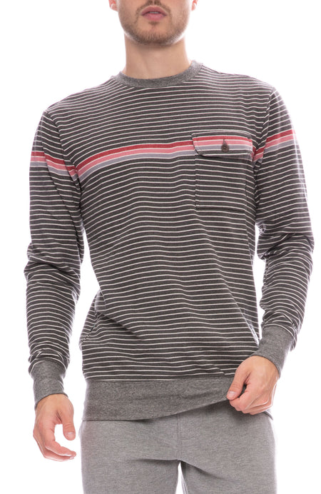 Stripe Pocket Sweatshirt